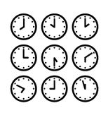 Silhouette clock icon Stock Photo