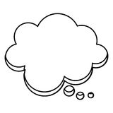 Silhouette cloud chat bubble icon. Illustraction design image Royalty Free Stock Photo