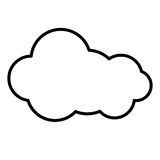 Silhouette cloud cumulus climate design Stock Photo