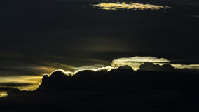 Silhouette of cloud with Iridescence sky Stock Photo