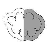 Silhouette clound network service icon Royalty Free Stock Photo
