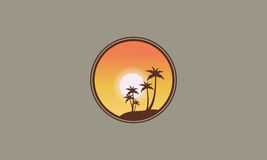 Silhouette of clump palm at sunrise Royalty Free Stock Photos