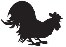 Silhouette of cock Stock Image