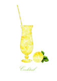 Silhouette cocktail on a white background Royalty Free Stock Image