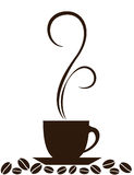 Silhouette of coffee cup Stock Image