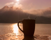 Silhouette Coffee royalty free stock image
