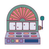 Silhouette color slot machine with button panel Stock Photo
