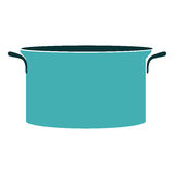 Silhouette colorful with cyan pans. Illustration Stock Photos