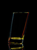 Silhouette of colorful glass for shot with clipping path on black background Stock Images