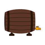 Silhouette colorful with Liquor barrel Stock Image