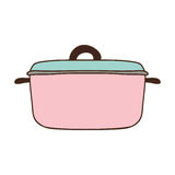 Silhouette colorful with pink pans. Illustration Royalty Free Stock Photos