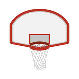 Silhouette colorful with rounded basketball hoop Royalty Free Stock Images