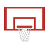 Silhouette colorful with square basketball hoop Royalty Free Stock Images