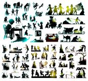 Silhouette combo Stock Photography