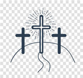 Silhouette concept of the crucifixion Royalty Free Stock Photo