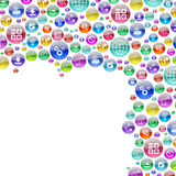 Silhouette consisting of apps icons Royalty Free Stock Image
