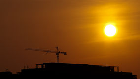 Silhouette construction Royalty Free Stock Image