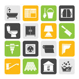 Silhouette Construction and building equipment Icons Stock Photography