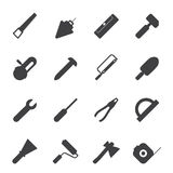 Silhouette Construction and Building Tools icons Royalty Free Stock Image