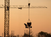 Silhouette of construction site Stock Image
