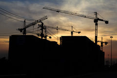 Silhouette of construction Stock Photography