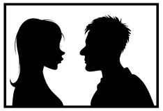 Silhouette couple Royalty Free Stock Images