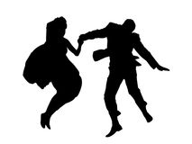Silhouette couple. Illustrated silhouette of a dancing couple Stock Photos