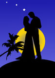 Silhouette of a Couple, illustration Stock Photography