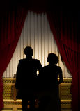 Silhouette of a couple Royalty Free Stock Photos