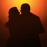 Silhouette couples Royalty Free Stock Images