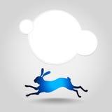 Silhouette courante de lièvres Images libres de droits