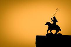 Silhouette cowboy Royalty Free Stock Photos