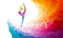 Silhouette créative de fille gymnastique Forme physique illustration libre de droits