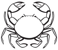 Silhouette crab Stock Photography