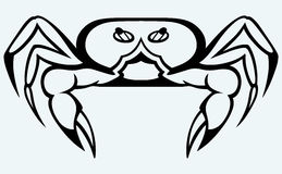 Silhouette crab Royalty Free Stock Photos