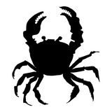 Silhouette of crab Stock Photos