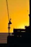 Silhouette crane 1 Stock Photos