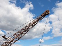 Silhouette of a crane boom. Stock Photography