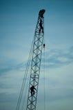 silhouette crane Stock Photography