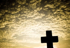 Silhouette of a Cross stock image