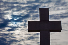 Silhouette of a cross Royalty Free Stock Photo
