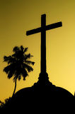 Silhouette of the cross Royalty Free Stock Images