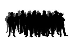 Silhouette of a crowd Royalty Free Stock Images