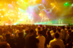 Silhouette crowd in front of concert stage blurred. Photo silhouette crowd in front of concert stage blurred Stock Photography