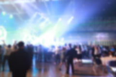 Silhouette crowd in front of concert stage blurred. Photo silhouette crowd in front of concert stage blurred Stock Image