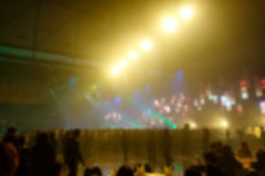 Silhouette crowd in front of concert stage blurred. Photo silhouette crowd in front of concert stage blurred Royalty Free Stock Images