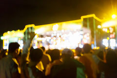 Silhouette crowd in front of concert stage blurred. Photo  silhouette crowd in front of concert stage blurred Stock Photos