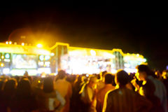 Silhouette crowd in front of concert stage blurred. Photo  silhouette crowd in front of concert stage blurred Stock Photo