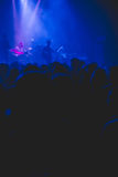 Silhouette of crowd at rock concert. Royalty Free Stock Photo