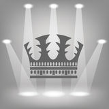 Silhouette of crown Stock Photo